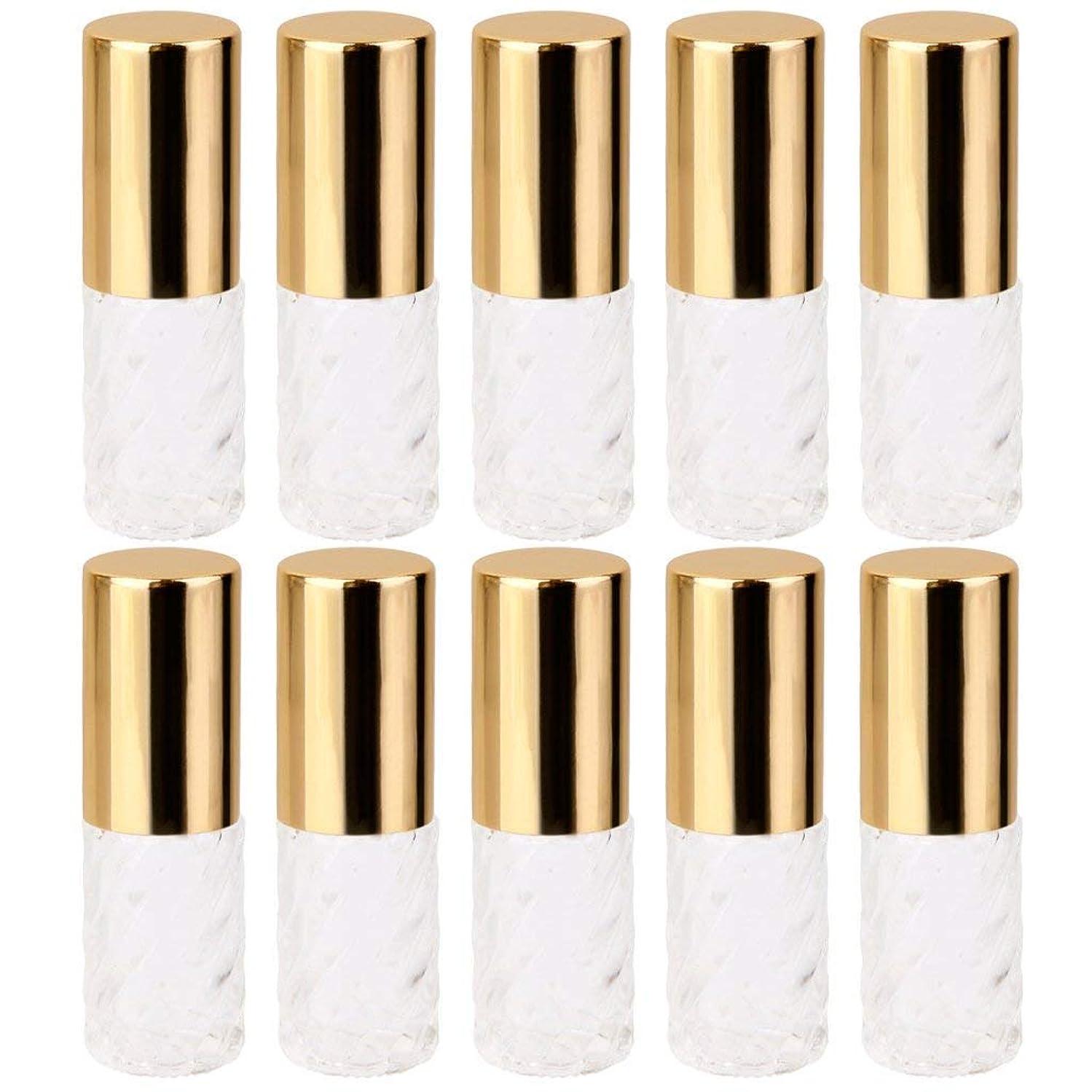 ベール気分アプローチ10個 5ml 透明 交換 旅行 空 ロールオン ガラス 香水瓶 容器 コスメ 詰替え 便利