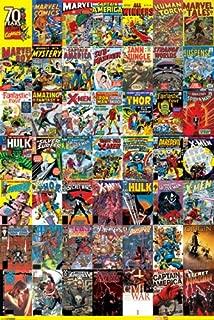 Marvel Comics 70 Years of Comics Retro Vintage Cover Art Poster 24x36 Inch