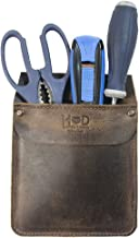 Durable Leather Work Pocket Organizer for Tools/Pens, Office & Work Essentials Handmade by Hide & Drink :: Bourbon Brown
