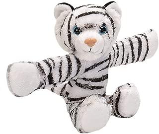 Wild Republic Huggers White Tiger Plush Toy, Slap Bracelet, Stuffed Animal, Kids Toys, 8 Inches