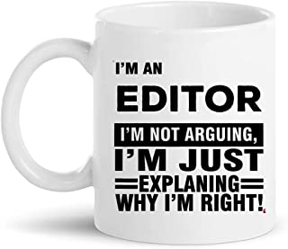 Editor Cup Coffee Mug | Photo Designer Video Film Editing Audio Sound Editors T-Shirt Gift | editor-in-chief journalist reporter Gifts for Men Women