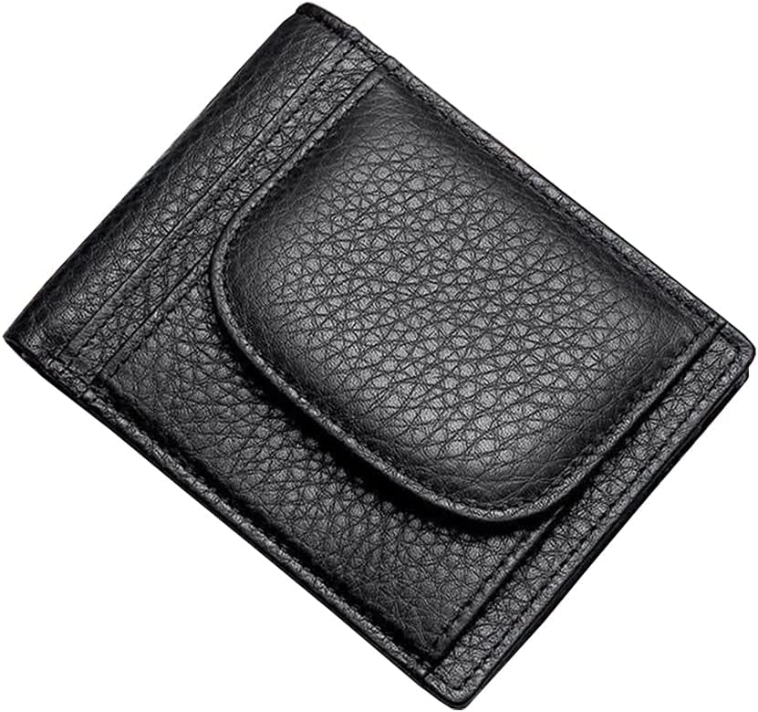 Lingwu Minimalist Mens Genuine Leather Industry No. 1 store Card Wallet Credit Holder