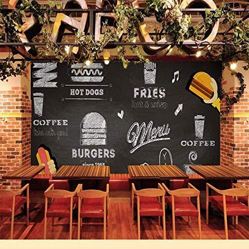 Cibo Murale Caffetteria Latte Tee Barbecue Sushi Shop Barbecue 3D Fotobehang Graffiti Cibo Murale Caffetteria Latte Tee Barbecue Sushi Shop Bar behang_300cm(w) x200cm(h)(9'10