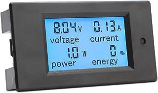 DROK 電圧チェッカー DC デジタル マルチメーター 6.5〜100V 20A 電力 エネルギー 電圧 アンペア数 テスター ゲージ LCD ブルーのバックライト 電流シャントビルトイン(日本語の取扱説明書が必要なら、連絡ください。)
