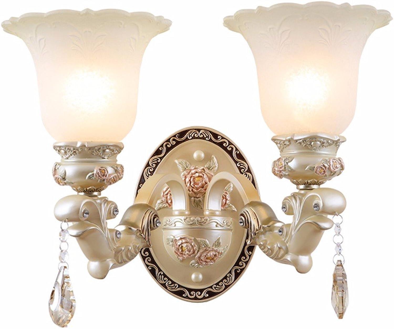 StiefelU LED Wandleuchte nach oben und unten Wandleuchten Wohnzimmer Schlafzimmer Wand lampe Nachttischlampe texturierte Wand leuchten antike Treppe Fahrscheinwerfer, Dual Head