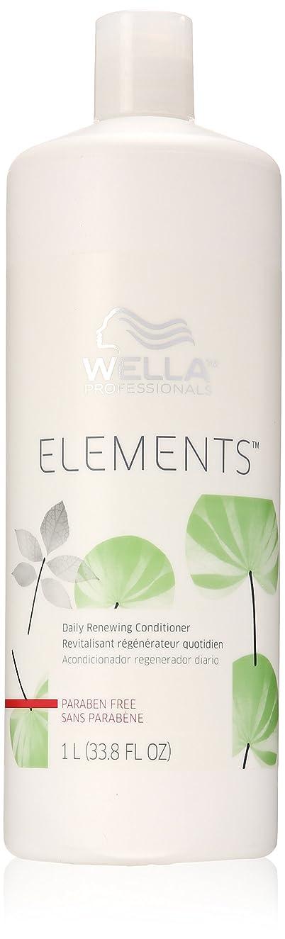 ふざけたひねり拒否Wella Elements Conditioner, 33.8 Ounce
