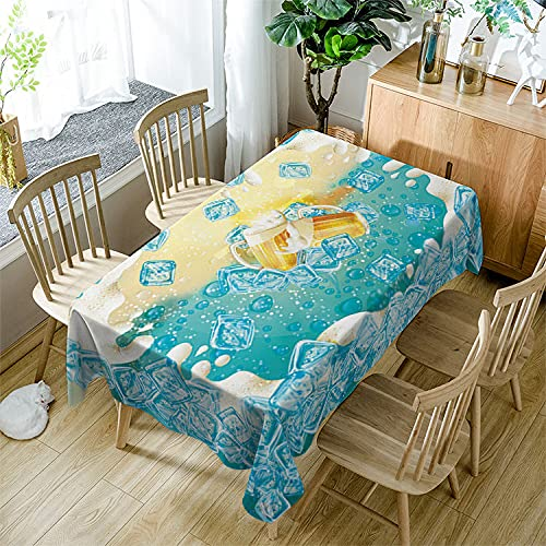 XXDD Mantel Rectangular Simple, Hermosa Cubierta de Mesa con patrón de Flor de Hoja de Arce, Mantel de Boda Lavable A16 150x210cm