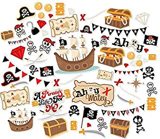 Paper Die Cuts - A Pirate's Life - Over 60 Cardstock Scrapbook Die Cuts - by Miss Kate Cuttables