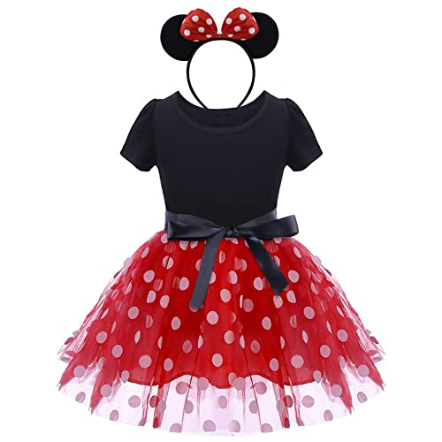 fc7c0f96700 IWEMEK Infant Baby Toddlers Girls Christmas Polka Dots Birthday Princess  Bowknot Tutu Dress Halloween Xmas Cosplay