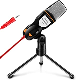 TYC Micrófono Condensador, Micrófono Condensador Profesional de Conexión 3.5mm para Podcast, Radio, Videojuegos en Línea, ...