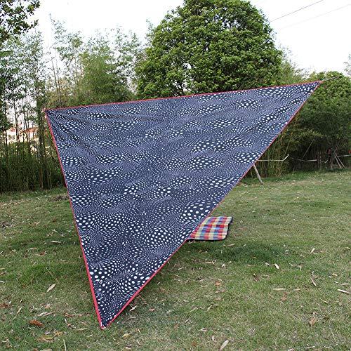 Moolo Markise Sonnencreme Super Große Sonnencreme Camping Markise Tragbare Winddichte Dreieck Baldachin Outdoor Fußmatte Schwarz Und Weiß 5x5x5m