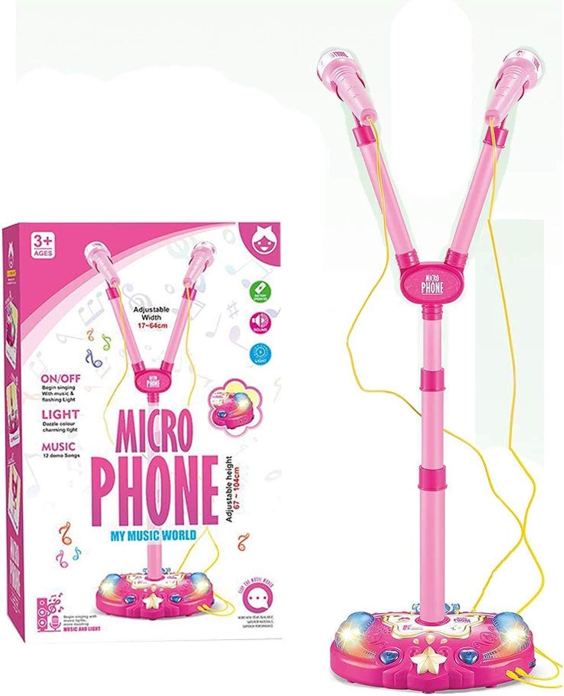 CX TECH Microfoni della Fase dei Bambini Giocattolo Bambini Karaoke Microfono Giocattoli Musica Regolabile Lampeggiante divertimentozione Portatile Regalo Diverdeente