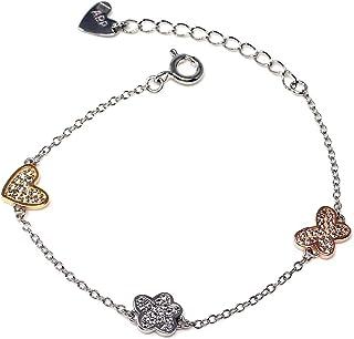 Silver Bracelet Agatha Ruiz De La Prada 13cm. Zircons Cloud [Ab5644]