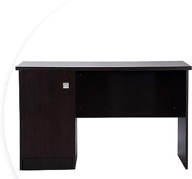 Deckup Uniti Office Table and Study Desk (Dark Wenge, Matte Finish)