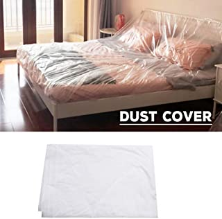 Yunhigh Plastic Furniture Dust Cover for Moving Storage Painting Clear Vinyl Sofa Moving Wrap Protector Tear Resistant Waterproof Dustproof - 200300cm