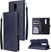 HAIJUN Mobile Phone Flip Case Wallet Case for Oppo F11 Pro, Premium PU Leather Wallet Case [Wrist Strap] Flip Folio with I...