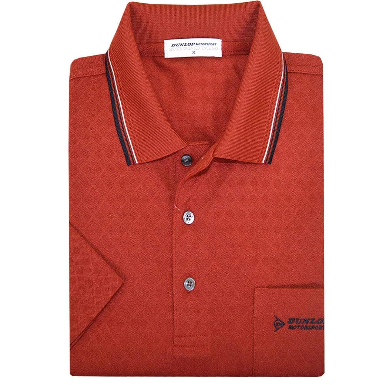 ポロシャツ メンズ 半袖 DUNLOP(ダンロップ) 地柄ダイヤ 男性用 ゴルフポロ dp17