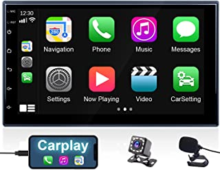 $85 » Hikity Double Din Car Stereo with Apple Carplay and Android Auto 7 Inch 2.5D Touchscreen Car Radio with Bluetooth Backup C...
