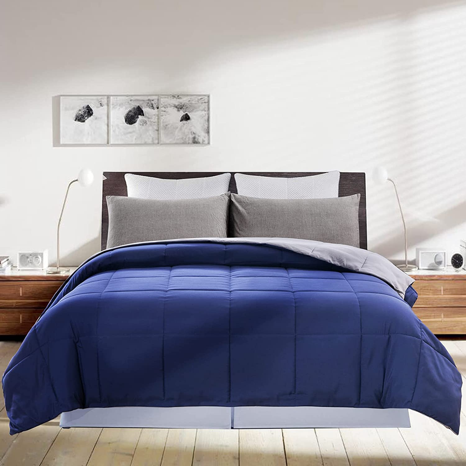 Purchase DOWNCOOL OFFicial shop Reversible Down Alternative Blanket Seaso Comforter-All