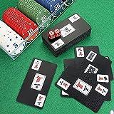 Juego de Fichas de Póquer,Naipes de Mahjong Impermeables Portátiles de PVC de Plástico,Juego de Naipes Majiang Fácil de Mantener Limpio,Tarjeta de Mahjong Impermeable
