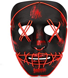 Light Up Glowing Mask Led Mask Illuminated EL Wire Mask for Halloween Festival Party