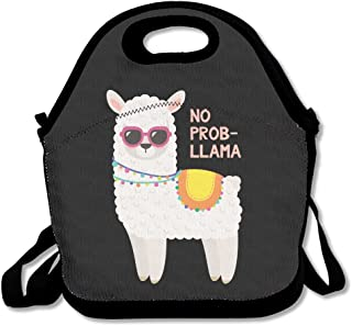 HYEECR No-Prob Llama Portable Lunch Tote Bags, Takeaway Lunch Box, Outdoor Travel Fashionable Handbag For Men Women Kids Girls