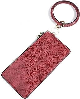 Round Wristlet Keychain with Purse, 2 In 1 Bracelet Round Big O Key Ring for Women Girls