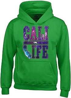Shop4Ever ® Cali Vida Galaxy Unisex Sudadera con Capucha California Sudaderas