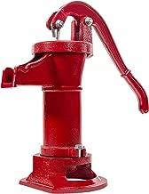 XtremepowerUS Antique Pitcher Hand Water Pump Well Hand Operated Pitcher Pump 25 ft. Lift Press Suction Outdoor Yard Ponds Garden
