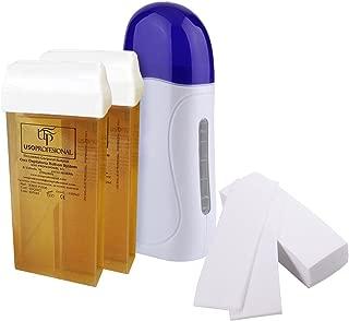 Kit de depilación profesional Crisnails®, 1 calentador de cera caliente roll-on, 2 cartuchos de cera (100 ml / unidad), 1 paquete de elásticos depilatorios (100 piezas)