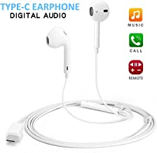 USB C Headphone with Microphone USB Type C Earphones with Mic USB C Digital Earbuds Wired in-Ear Type C Headsets for Google Pixel 4/3/ 2/ XL, OnePlus, Moto, Huawei, HTC, Essential Phone, Xiaomi Etc.