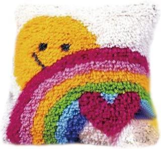 DIY Cushion Carpet Floor Mat Latch Hook Rug Kits Cover Hand Craft Round Crocheting Needlework Baby Kids Parents Gift 19x19