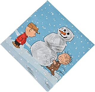 Fun Express - Peanuts Christmas Lunch Napkins for Christmas - Party Supplies - Print Tableware - Print Napkins - Christmas - 16 Pieces