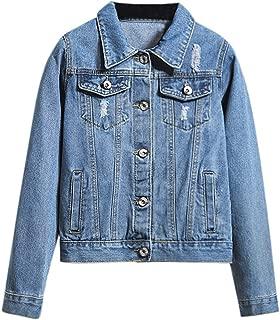 Rosatro Women Jackets Denim Casual Retro Cowboy Pockets Full Sleeves Comfort Fit Regular Collar Jean Jacket