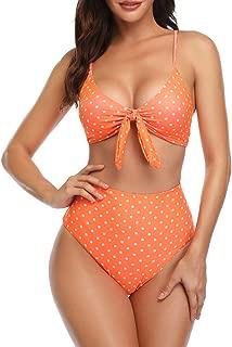 Honlyps Two Piece Swimsuits for Women Bikini Swimwear Womens Bathing Suits Halter Lace up Bikini Set