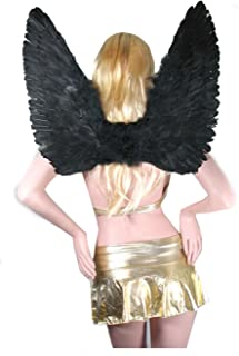 Large Black Feather Angel Wings for adults, women and men