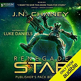 Renegade Star: Publisher's Pack 2     Renegade Star Series, Books 3 and 4              Written by:                                                                                                                                 JN Chaney                               Narrated by:                                                                                                                                 Luke Daniels                      Length: 10 hrs and 3 mins     1 rating     Overall 5.0