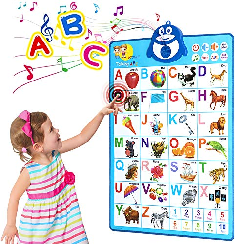 Hey Folly Alphabet Poster, Electronic Interactive Alphabet Wall Chart
