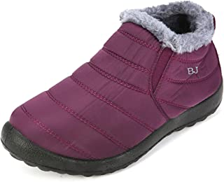 Warm Snow Boots, Winter Warm Ankle Boots, Fur Lining Boots,Waterproof Thickening Winter Shoes for Women and Men
