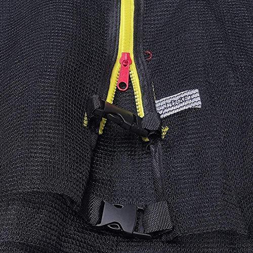 BFDMY Redes de Seguridad de Repuesto para trampolín con cerramiento (Solo Red) Red de Repuesto para los alrededores (Caja Fuerte para Dedos pequeños) | 244cm | para Camas elásticas de 6 Postes