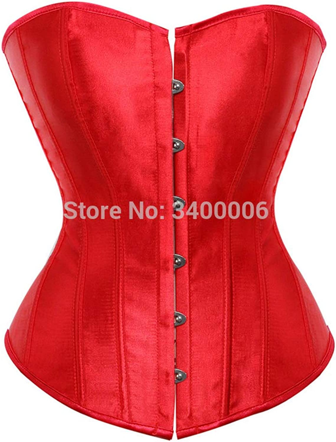 Satin Sexy Bustier Top Vintage Lace up Boned Corset Overbust Brocade