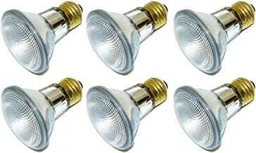 Pack of 6 38PAR20/NFL 120V 38 Watt High Output (50W Replacement) 38W PAR20 Narrow Flood 120 Volt Halogen Par 20 Eco Light Bulbs