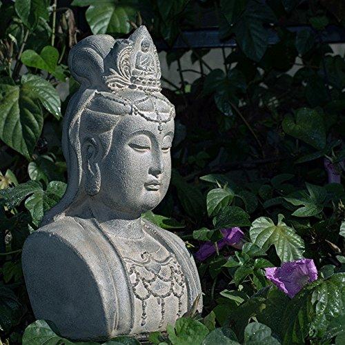 Home&Garden Handmade Stone Quan Yin Bust Statue.