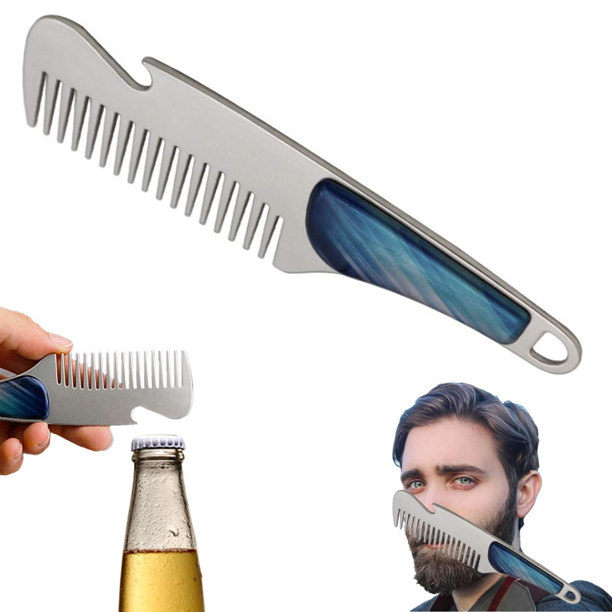 Beard Comb WIKIDOO Stainless Steel Manufacturer OFFicial shop Mustache B Hair Men's Complete Free Shipping