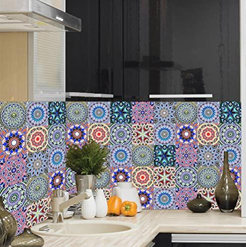 Vinilos Pared Cocina Beige Azul Violeta Vinilo Adhesivo Cenefas Adhesivas Baño Cocina Azulejos Decorativos Adhesivos Ba?o DIY Mueble10P, 10cm x 10cm