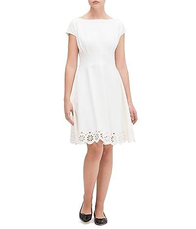 Kate Spade New York Eyelet Ponte Fiorella Dress (Cream) Women