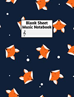 Blank Sheet Music Notebook: Easy Blank Staff Manuscript Book Large 8.5 X 11 Inches Musician Paper Wide 12 Staves Per Page for Piano, Flute, Violin, ... other Musical Instruments - Code : A4 7258