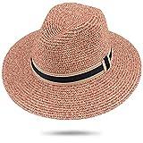 Maylisacc Strohhut Damen Sommer Strand Breite Krempe Sonnenhut UV Schutz