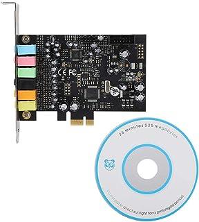ASHATA Tarjeta de Sonido Interna, 1 PC PCI-E 7.1 HiFi High Fidelity 8 Pistas Tarjeta de Sonido PCI Envolvente Interna Compatible con Equipos de Sistema de Sonido Envolvente estéreo 2.1/5.1, Negro