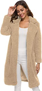 Invernale Cappotto Lungo Donna Teddy Bear Cappotto Cappotti Donna Parka di Peluche Invernale Giacca Pelle Invernale Donna ...